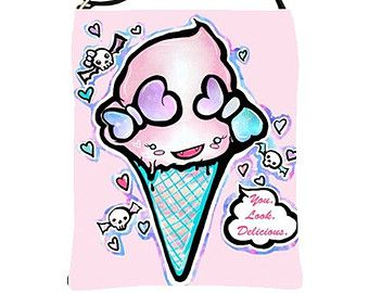 26 best tattoo images on pinterest ice cream tattoo for Pastel goth tattoos