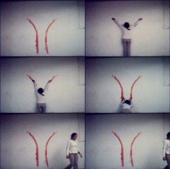 Ana Mendieta Sem titulo (blood sign #2/ body tracks)