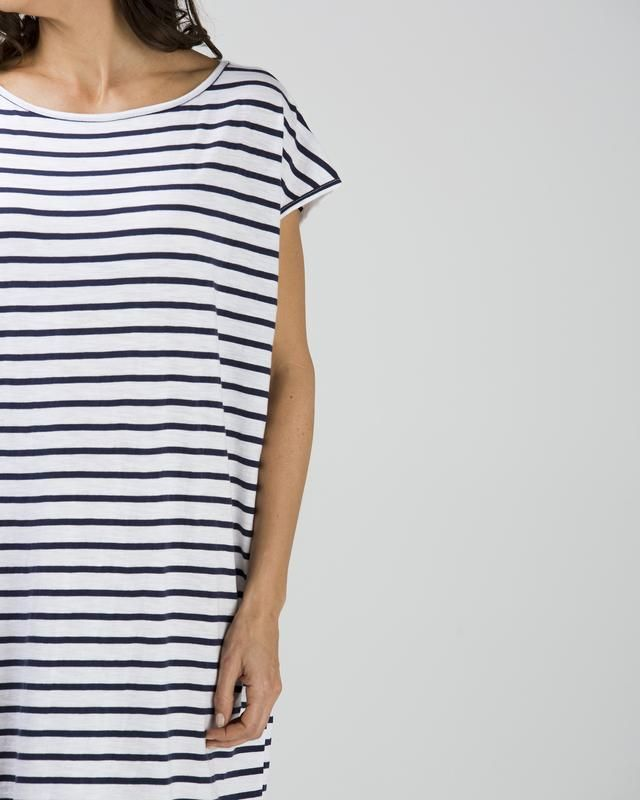 cotton jersey relaxed fit shift dress $49