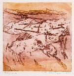 "Jan Montyn, etching ""esprit de jeu"" (1994)"