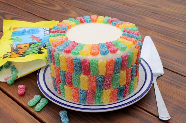 Sour Patch Kids Cake #rainbow #inspo #privatearts