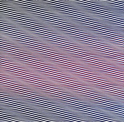 Cataract 3, United Kingdom, 1967, by Bridget Riley.