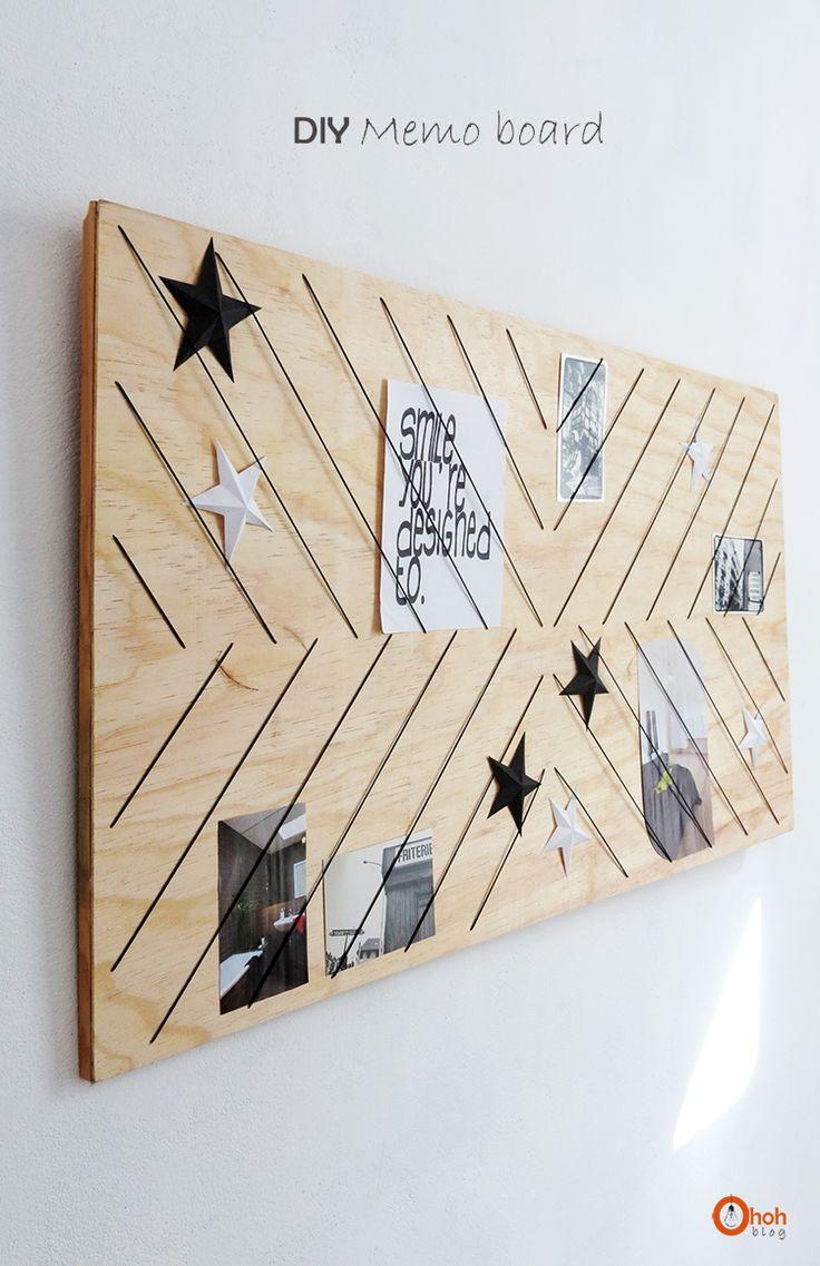 Et voici un nouveau DIY pour réaliser un tableau Mémo. On trouve beaucoup de DIY sur ce sujet, mais j'aime particulièrement celui-ci car même vide, sans jolies cartes ni photos, il reste très joli et décoratif. Il habille un mur à lui tout seul. Je suis aussi fan des étoiles, mais ça c'est une autre …