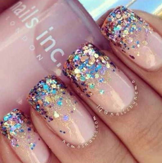 Nail designs pink sparkle nails gold glitter baby gel. View Images ... - - Nail Glitter Designs Graham Reid