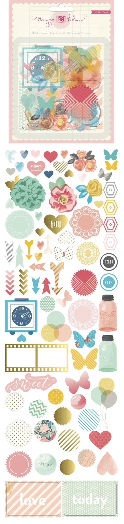 Maggie Holmes - Styleboard by Crate paper - vellum diecuts
