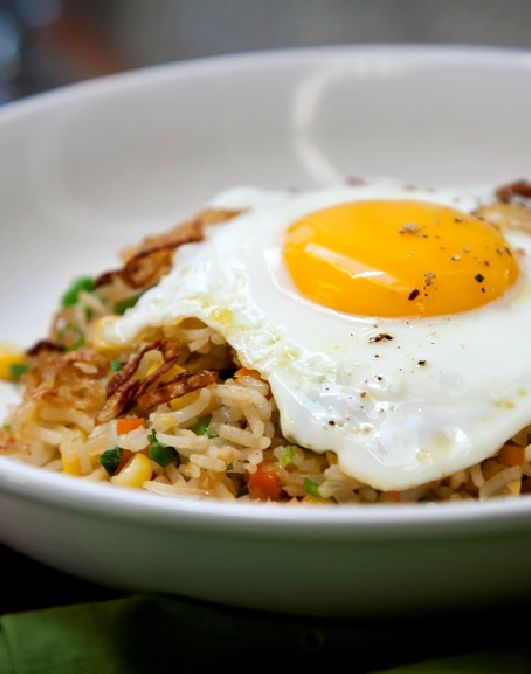 Low FODMAP Recipe - Gluten Free - Malaysian Fried Rice http://www.ibssano.com/low_fodmap_recipe_malaysian_fried_rice.html
