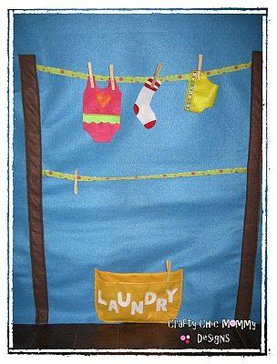 another cute idea for a felt playhouse