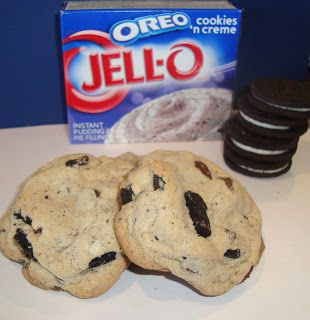 Dip it in Chocolate: Triple Oreo Pudding Cookies