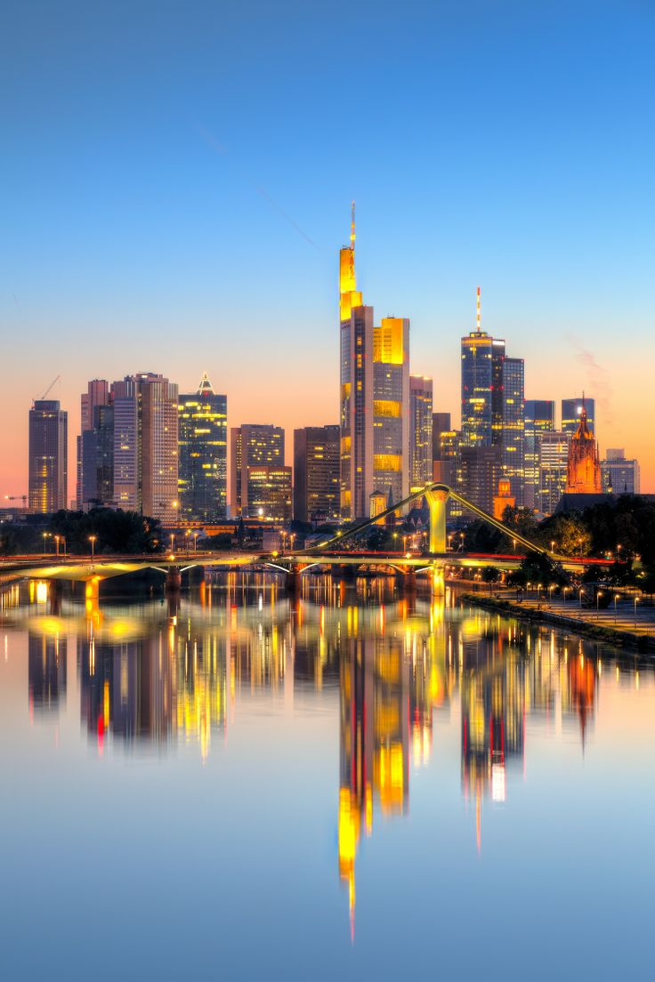 The amazing skyline of Frankfurt, also known as 'Mainhattan'.