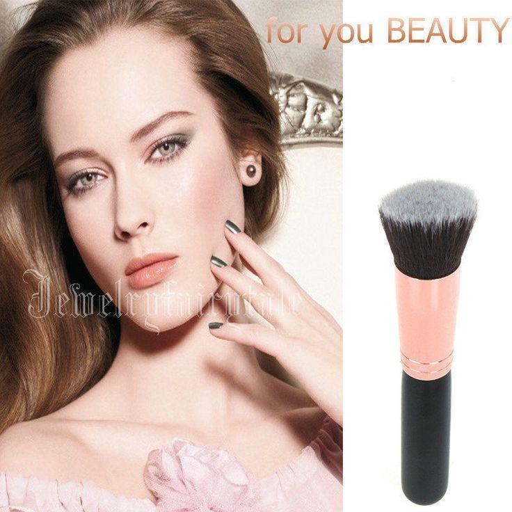 Pennello Piatto per Fondotinta Fard Rossetto Polvere MakeUp Cosmetici Trucco New