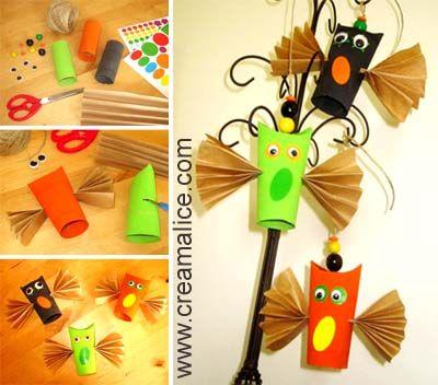 ☠ ✄ Déco Chouettes d'Halloween / DIY Halloween Owl Craft ✄ ☠ http://www.creamalice.com/Coin_conseils/1-loisirs_creatifs_2013/9C-Tuto_Deco_Chouettes_Halloween/DIY_Deco_Chouettes_Halloween.htm