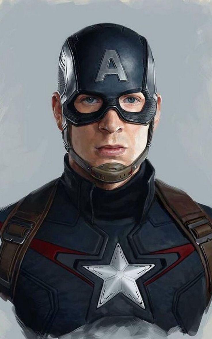 Captain America Wallpaper 4K Pahlawan marvel, Animasi