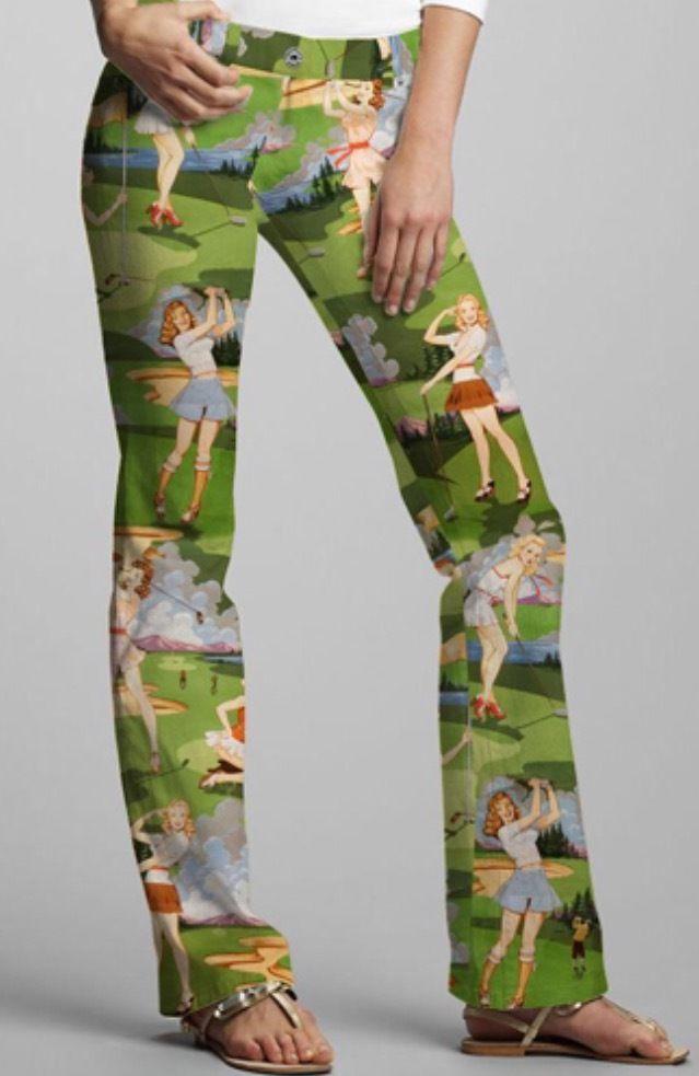 Loudmouth Golf Pants Ladies Birds Of Paradise size 0 NEW Wild John Daly #LoudmouthGolf #PantsTightsLeggings