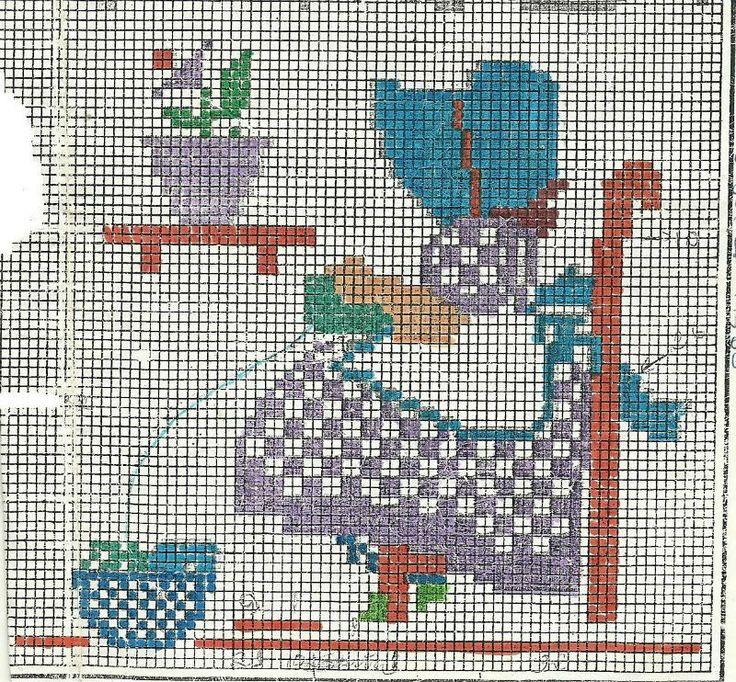 .Sunbonnet Sue knitting
