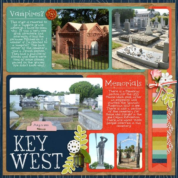 Key West Cemetery 2 by Karen_ @2peasinabucket using Words and Pictures 6 by MIsty Cato