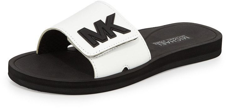 MICHAEL Michael Kors MK Sportrutschsandale, Optic White #michaelkors #sandals #f …, #Kors …