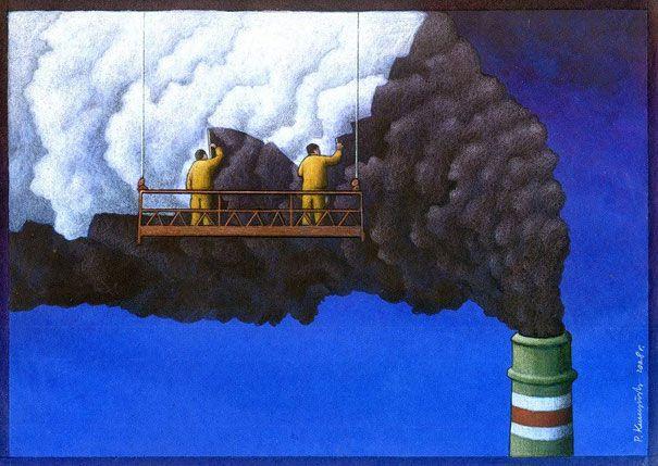 Pawel Kuczynski e suas ilustrações recheadas de sátiras sociais e políticas - Pêssega D'Oro