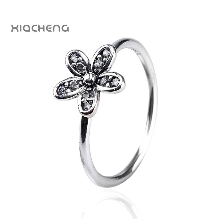 Authentic 100% 925 Sterling Silver Ring With Crystal European Wedding Ring High Quality Fit Women Pandora Jewelry