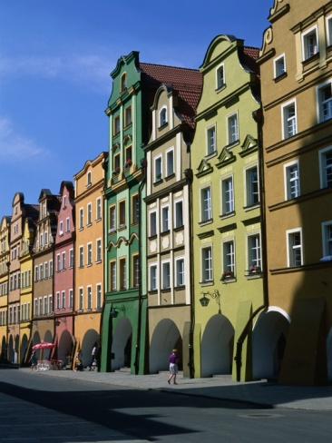 Gabled Houses in the Old Town Square, Jelenia Gora, Poland