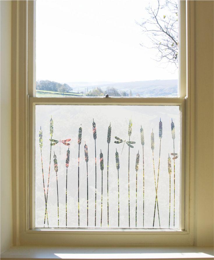 Dragonfly Window Film                      – Hannah Nunn         #glass #decor #patterned #windowfilm #frosted #dragonflies #bathroom #window