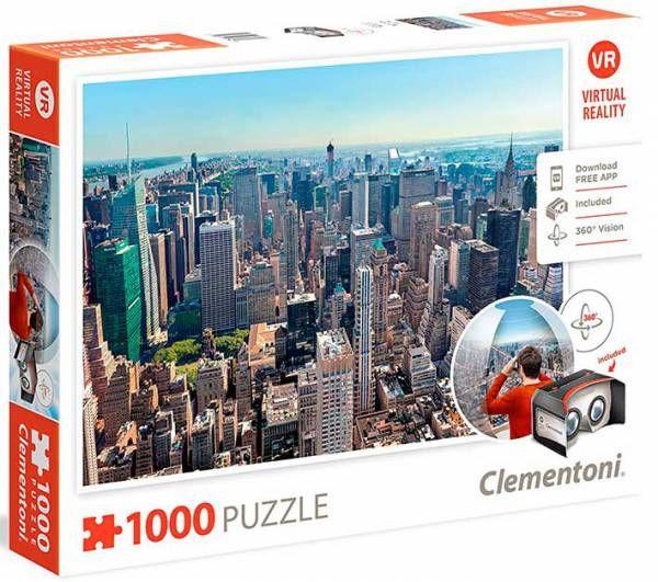 ¡LO MÁS NUEVO EN PUZZLES! Pasea por New York con visión 360 grados después de montar el rompecabezas.  Puzzle CLEMENTONI: Puzzle de 1000 piezas New York realidad virtual ( Ref: 0000039401 ) en Puzzlemania.net