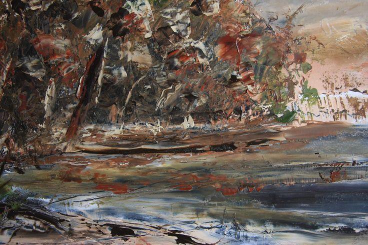 Forest Edge by John Hodgman. 2014. Oil on board (framed). 36 x 48cm. SOLD.