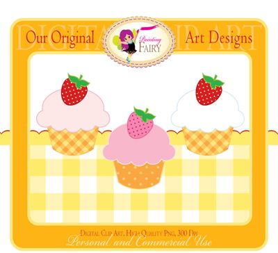 Freebies 02  These products are completely FREE and may be used for both Personal and Commercial Use.    Cupcakes with Strawberries  checkered, clipart, cupcakes, cute, designer element, free, freebies, fruit, Personal and Commercial Use, pink, png, polka dots, printable, red, scalloped border, strawberry, summer, tablecloth
