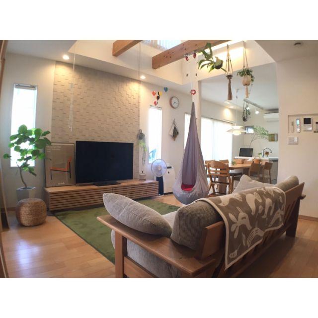 takeboo3さんの、Overview,ソファ,スツール,北欧,ニトリ,シンプル,ウンベラータ,植物のある暮らしについての部屋写真