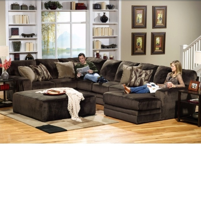 chocolate brown sectional - Living Room Sectional Design Ideas