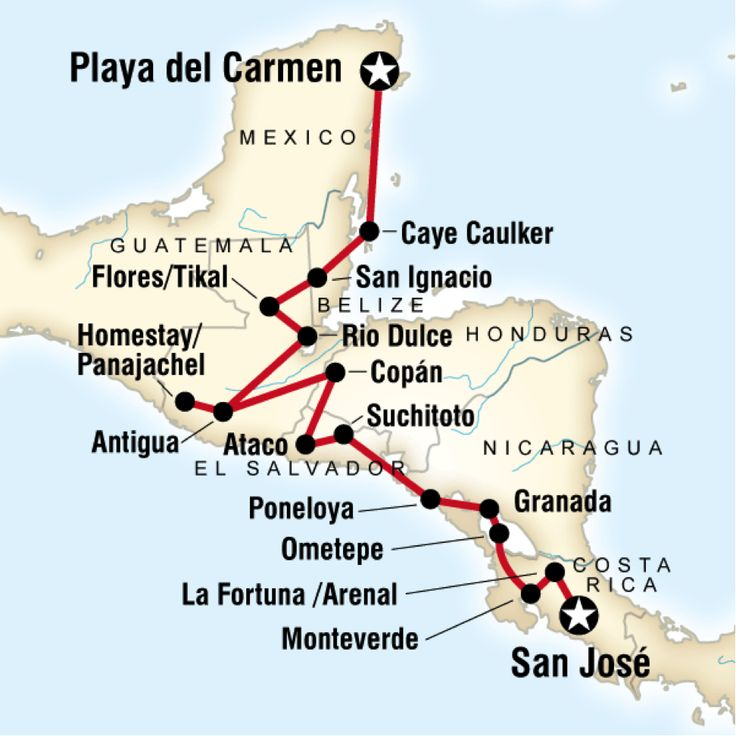 Backpacking In Central America: 41 Best Travel Maps Great Itineraries Images On Pinterest