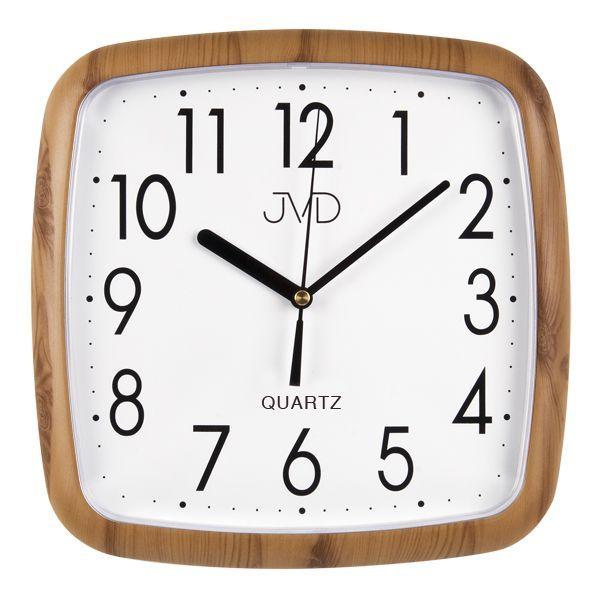 Hranaté nástěnné hodiny JVD quartz H615.4 imitace dřeva