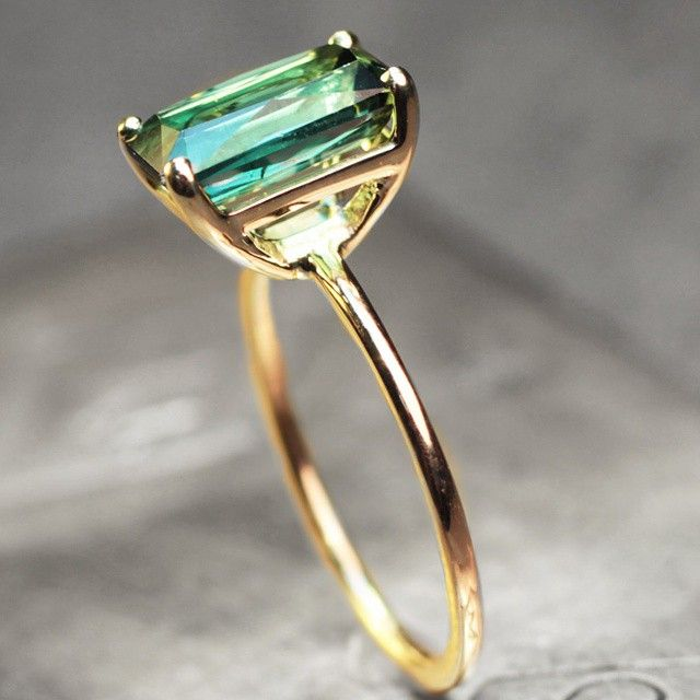 Our green tourmaline ring. A work of art. chincharmaloney.com