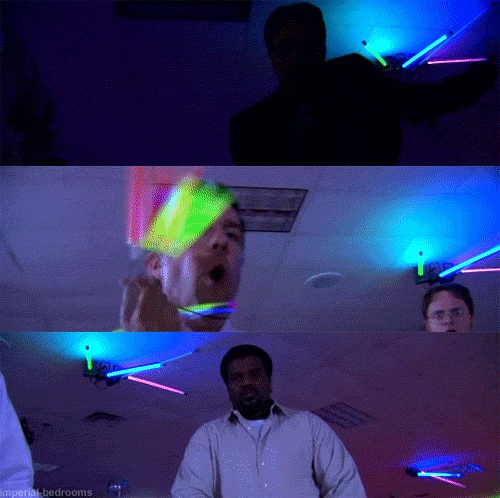 Craig Robinson Darryl Philbin The Office theoffice funny neon dancing