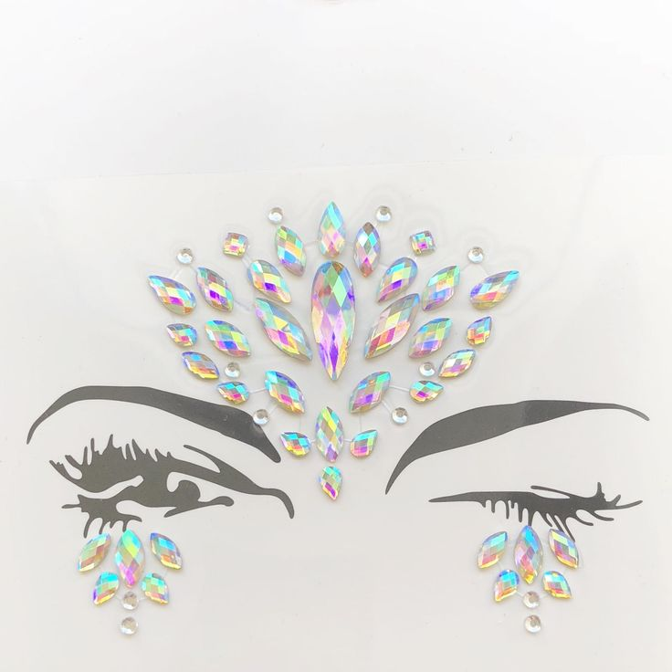 Excited to share the latest addition to my #etsy shop: EDC Outfits Face Gems Rave Jewels Festival Burning Man Metallic Tattoo Sticker Glitter Shimmer Gemstones Playa Rave Holographic Coachella