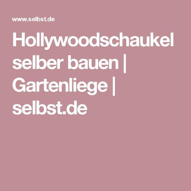 Hollywoodschaukel selber bauen | Gartenliege | selbst.de