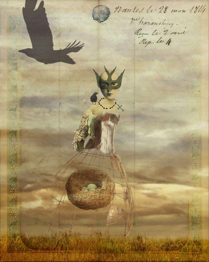 Nesting - Created for Digitalmania - Maggie Taylor inspired