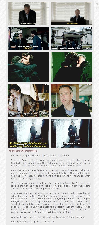 Appreciation for Papa Lestrade