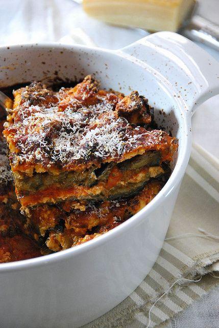 .^. Gratin aubergine Parmigiana
