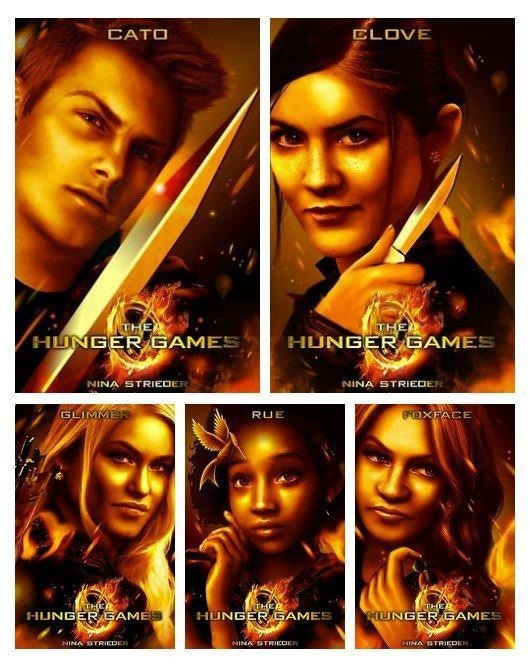 ... cato clove glimmer rue and foxface more hunger games clove hunger