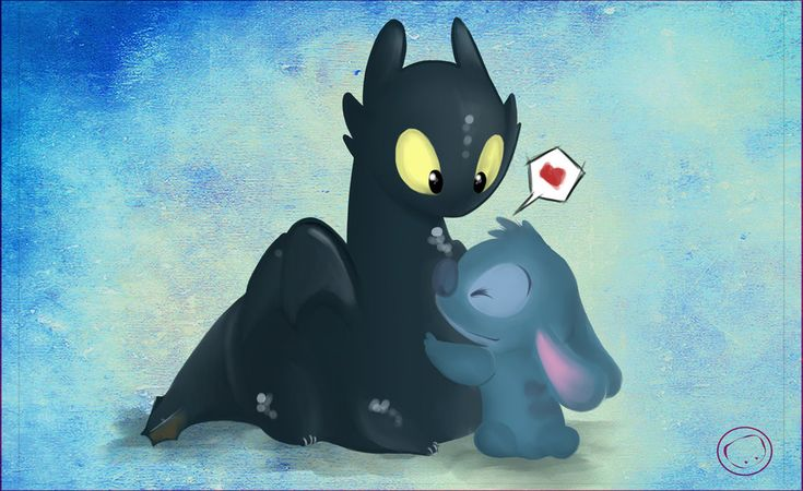 Stitch and Toothless - Lilo and Stitch and How To Train Your Dragon