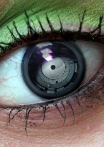 Ready to wear bifocal contact lenses......eye looks ROBOTIC??