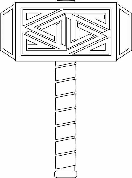Color Thor's Hammer | Coloring pages, Cool coloring pages ...