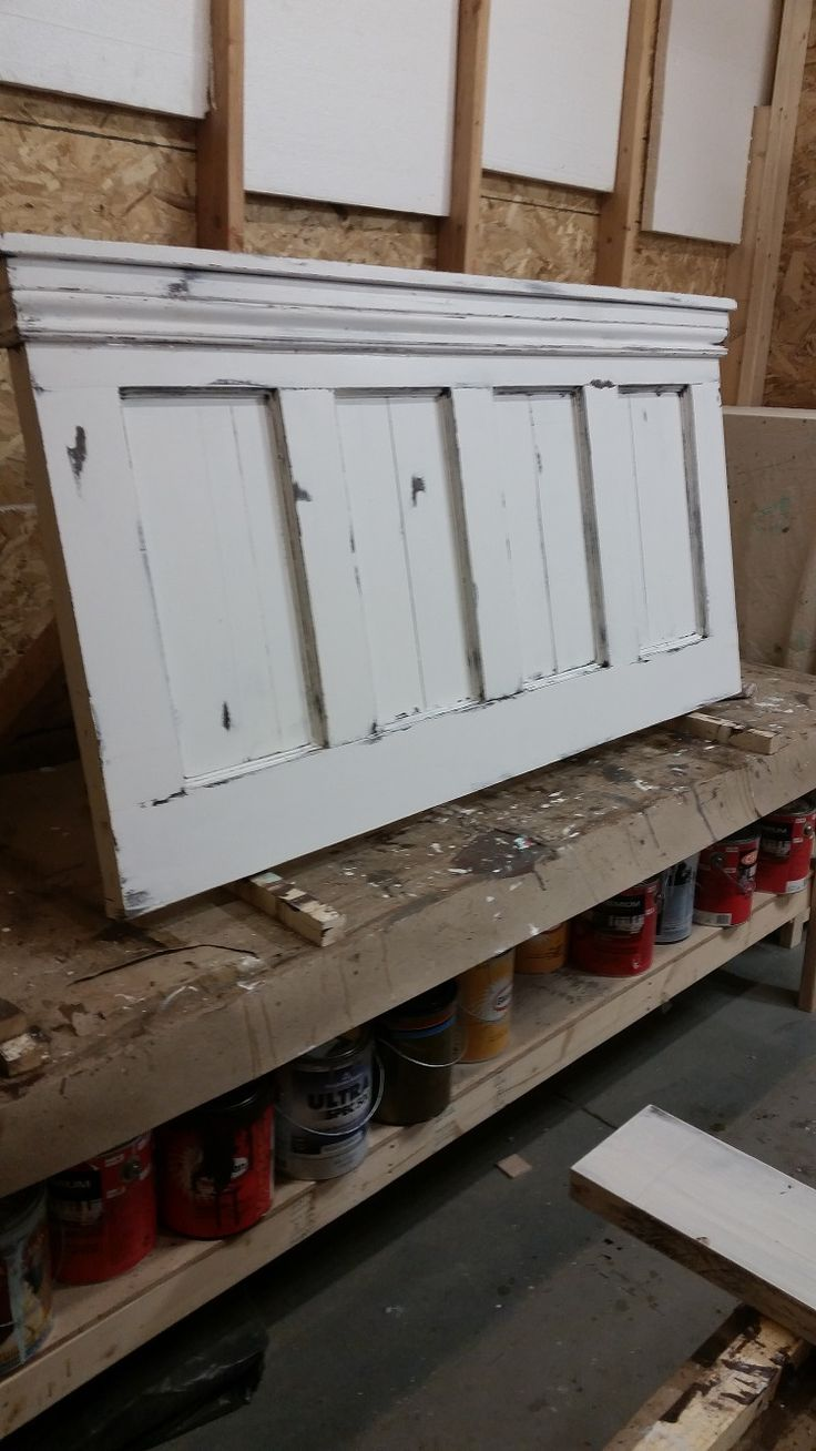 We have painted this headboard in a beautiful white, but have also painted it in an incredible robins egg blue. We custom make these headboards in all sizes - all colours.