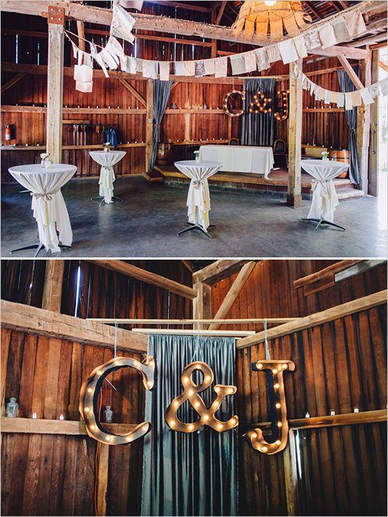 Stunning Michigan Summer Wedding Marquee Sign Reception