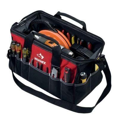 Husky 18 Inch Tool Bag w/ Shoulder Strap - http://toolsshack.com/husky-18-inch-tool-bag-w-shoulder-strap/