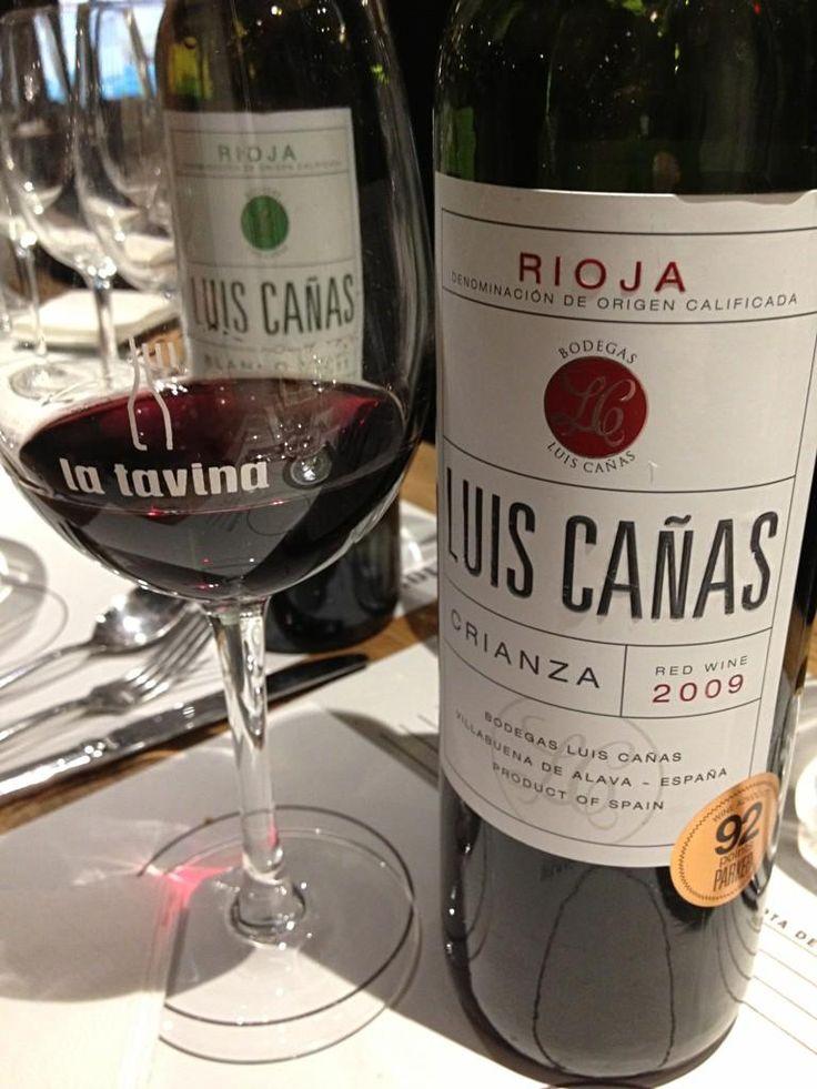 """@fourwine: Luis Cañas 2009, el """"famosillo"""" :D Mejor vino del mundo relación calidad precio @Luis Giles Canas Bodegas Catas en @L a Tavina"""