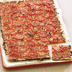 This Fillo Tomato Tart could be served as an appetizer or as a main entree. This recipes is a must make during fresh vine-ripened tomato season.