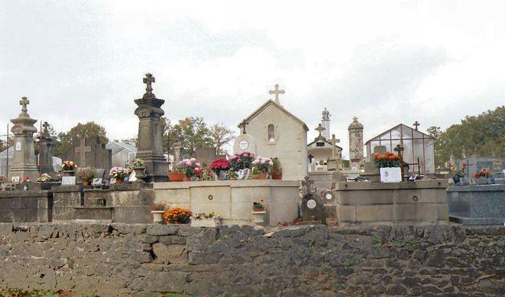 View of Oradour-sur-Glane cemetery looking north