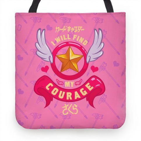 Cardcaptor Sakura: I Will Find My Courage Tote #tote #bag #pink #. Cardcaptor SakuraPrint PosterPillow CasesDiy ...