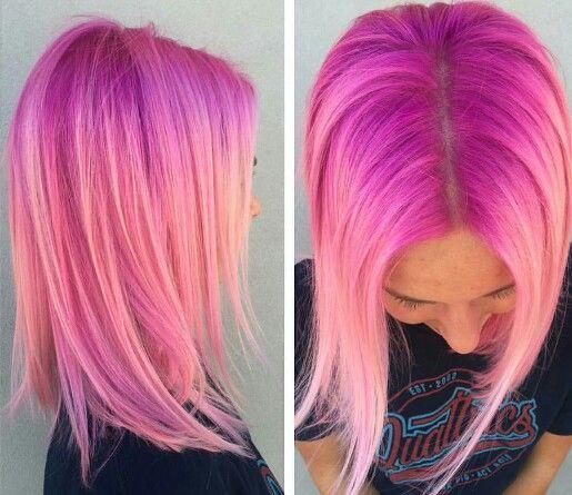 Pink coral hair